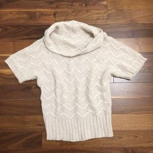 Ann Taylor Knit Short Sleeved Cowl Neck Sweater